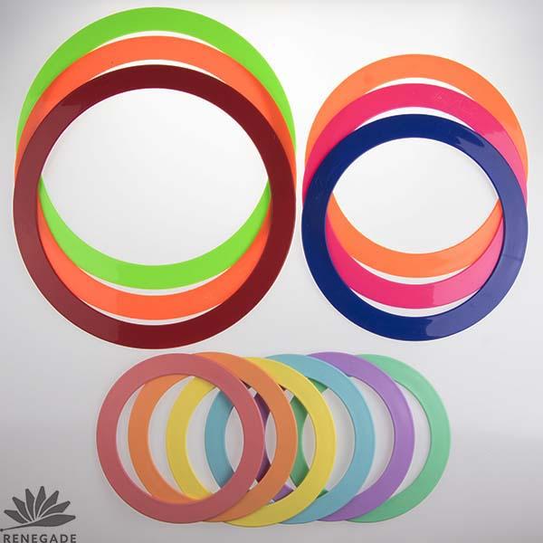 colorful juggling rings