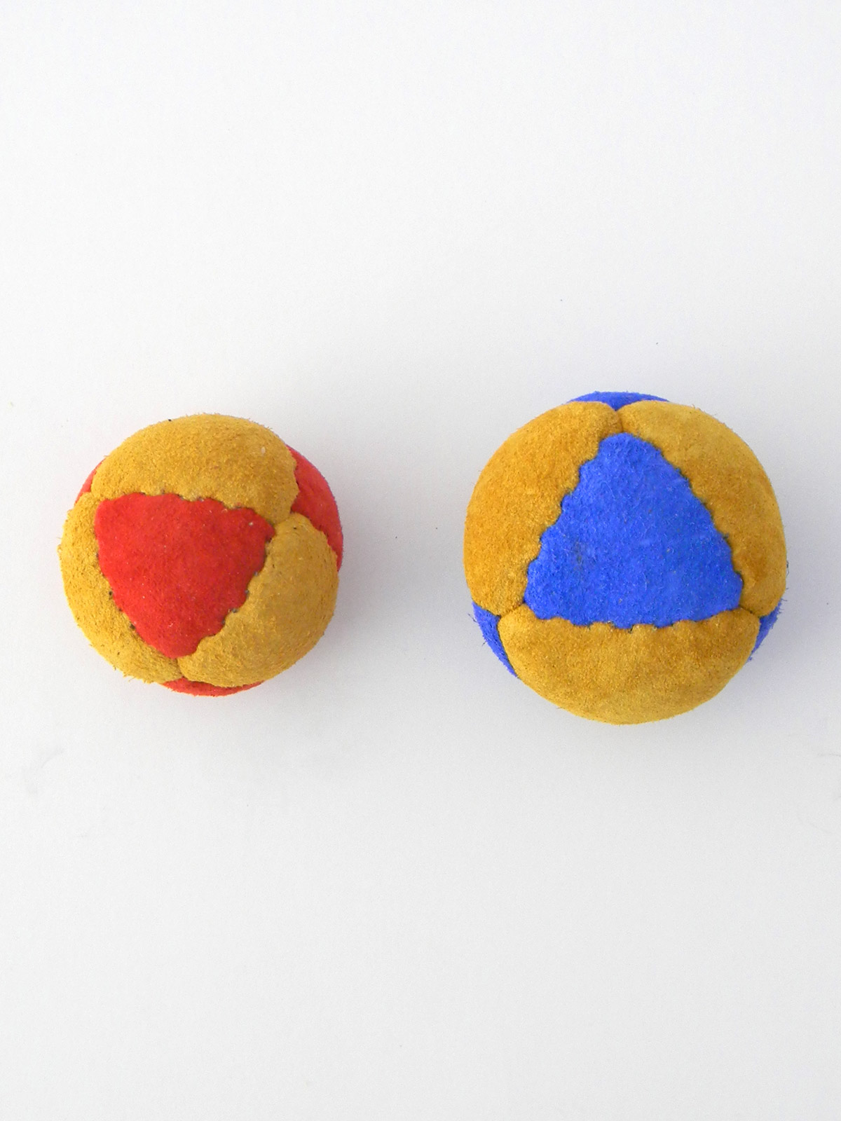 eight panel juggling ball size comparison