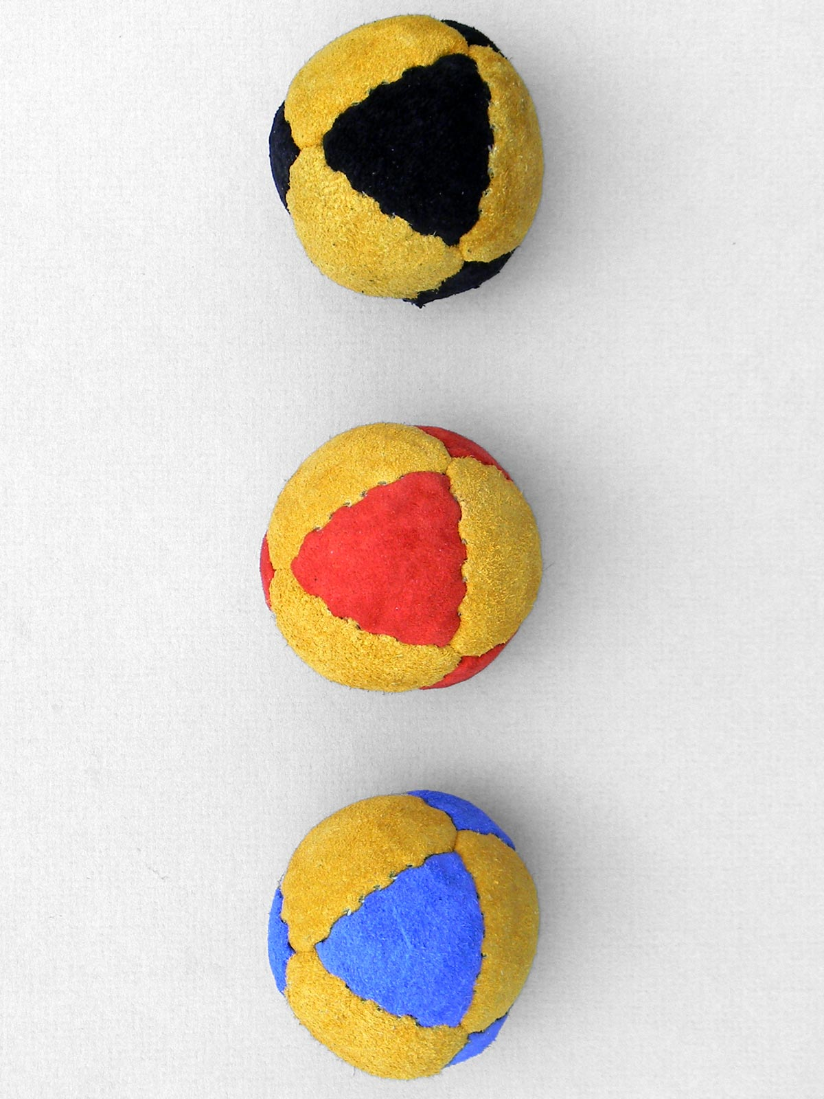 colored Suede juggling balls