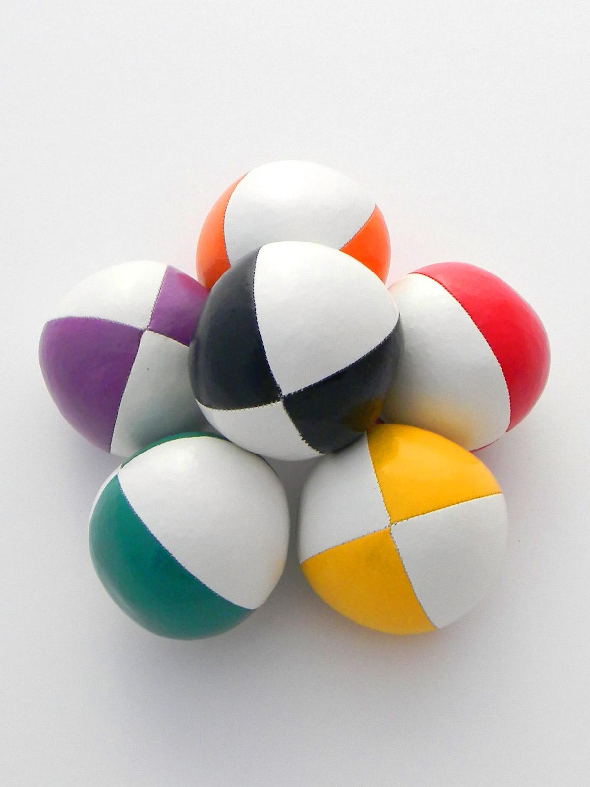 Vinyl Beanbag 4 Panel Juggling Balls - Vinyl Beanbags, A Soft Juggling Ball