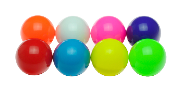 large colored russian juggling balls