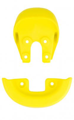 QU-AX SADDLE HANDLE (INTEGRATED) & BUMPER, YELLOW