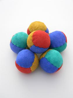 Suede Beanbag Juggling Ball 4 panel