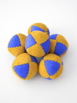 8 panel suede leather juggling beanbag balls