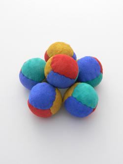 Leather Juggling Balls, numbers juggling suede beanbags