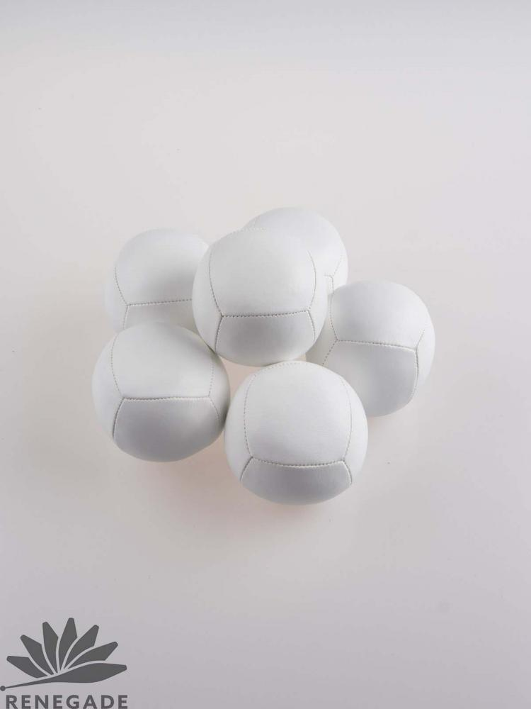 white polyurethane juggling ball