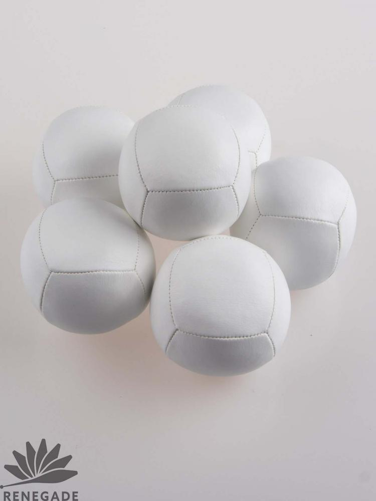 white juggling ball