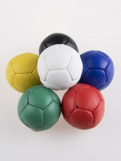colored leather juggling balls