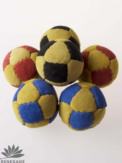 suede juggling ball paneled