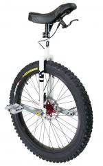View: QX MUNI 24 INCH DISC Q-AXLE WHITE UNICYCLE