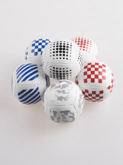 six panel printed juggling ball