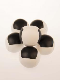 black and white juggling ball